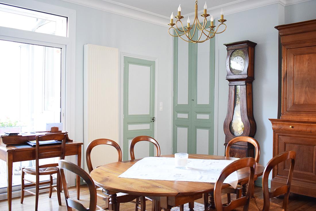 salon classique vert blanc artisan peintre tours